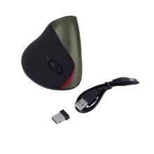 Hot! Luxury Black Rechargebale 2.4G 10M Wireless Ergonomic Design Vertical Optical USB Mice Wrist Healing Laptop PC Gaming Mouse