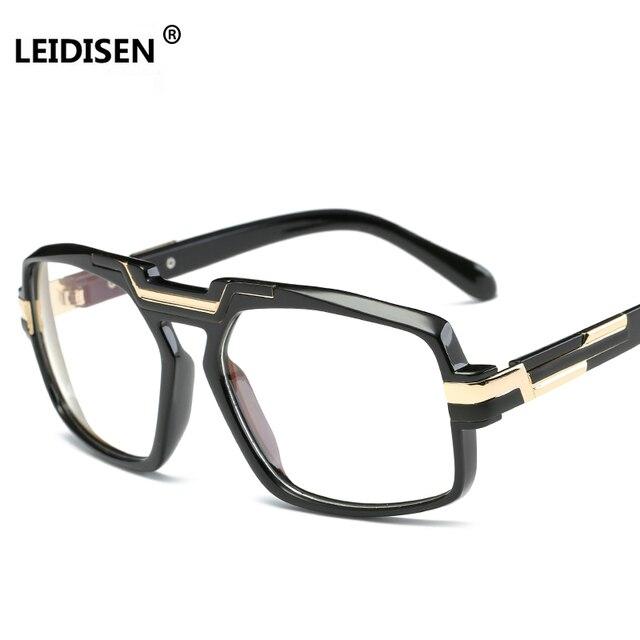 ad4edfbb38f LEIDISEN 2018 Big Square Women Eyeglasses Brand Frames High Quality Black  Clear Luxury Eye glasses Frame For Men UV400 Vintage