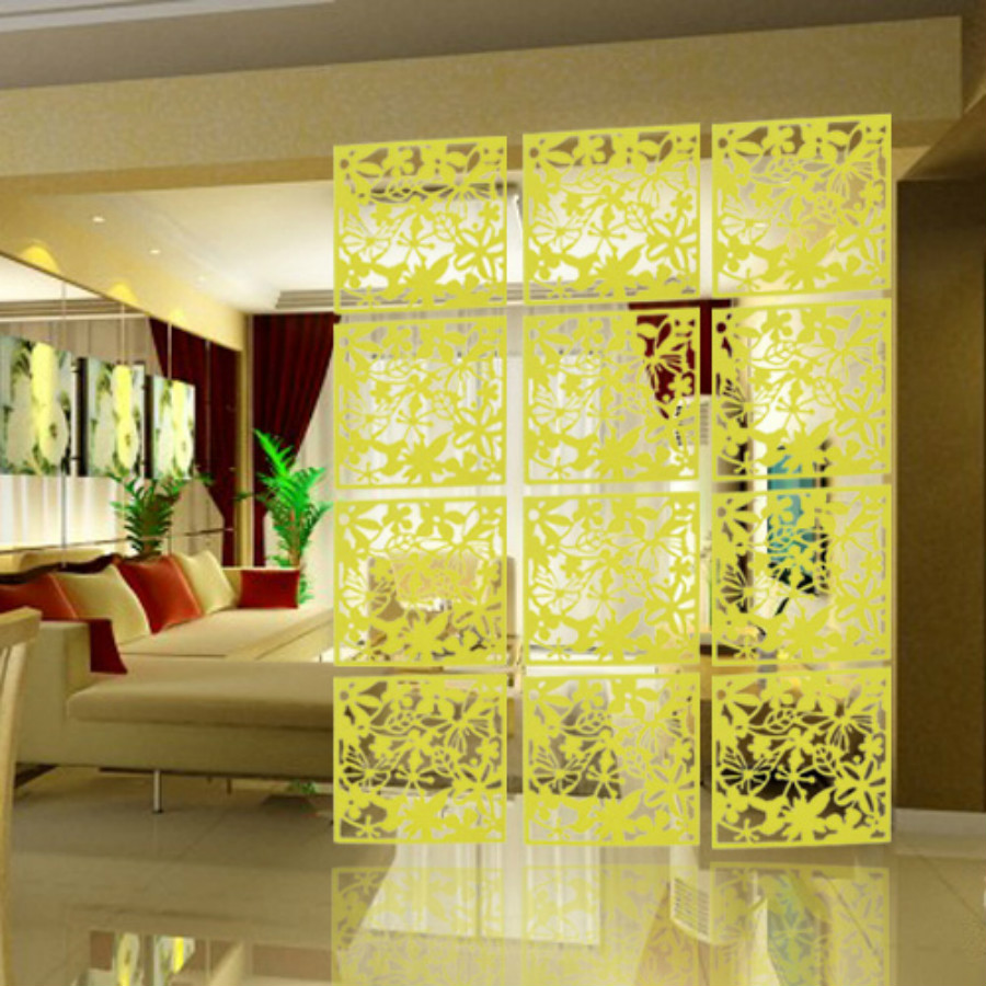 Buy Modern Style Hollow Wall Stickers Hanging Screen Multifunction Pp Material
