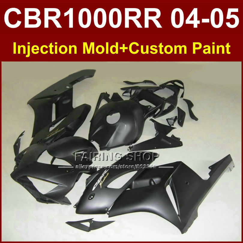 100% fit custom black fairing for honda 2004 2005 cbr1000 rr fairings set cbr 1000rr 04 05 cbr1000rr