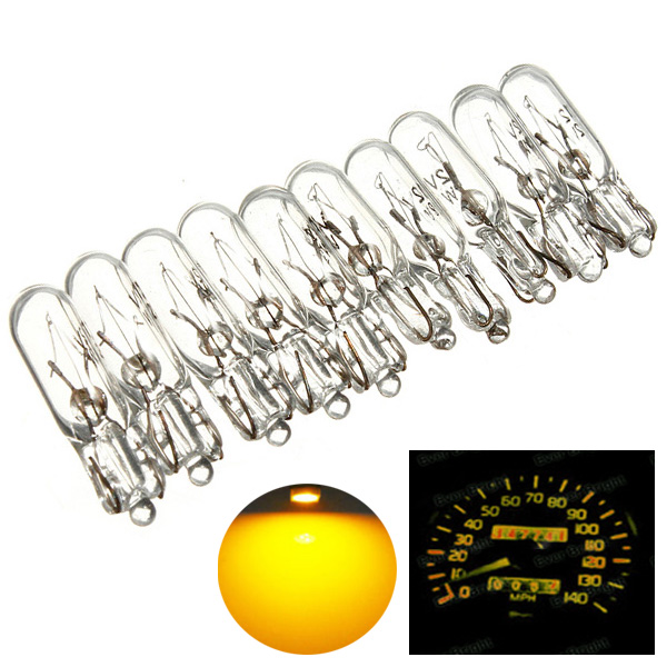 50pcs/lot 12v 2W 286 T5 Bulb Lamp Socket Car Wedge Dashboard Gauge Instrument Lights