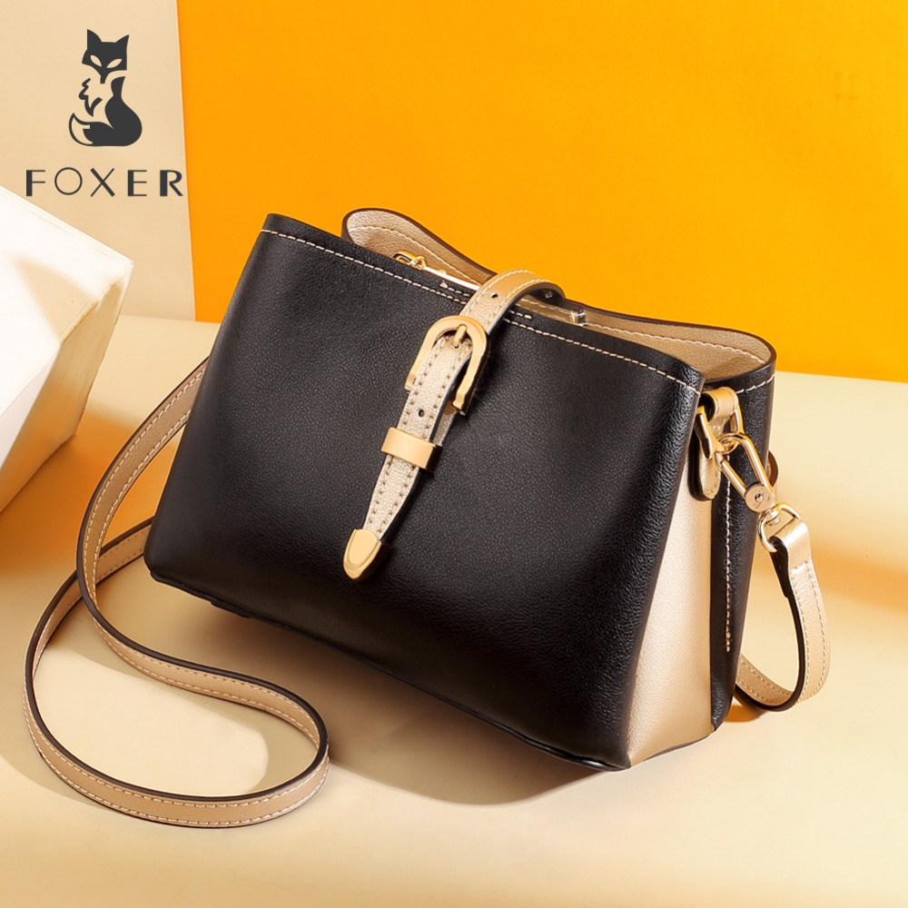 FOXER Brand 2019 Lady Stylish Messenger Bags Female England Style Large Capacity Shoulder Bags Fashion Women Bucket BagFOXER Brand 2019 Lady Stylish Messenger Bags Female England Style Large Capacity Shoulder Bags Fashion Women Bucket Bag