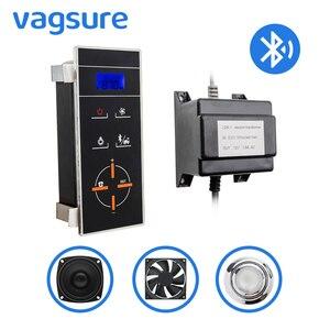 1 комплект (контроллер + трансформатор + вентилятор + динамик + светильник) bluetooth подключение к телефону ЖК-панель дисплей индукционная душева...
