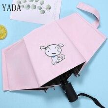 YADA Design Cute White Dog Pattern Folding Automatic Umbrella For Women Men Anti-UV Lovely Rainy Cartoon Animal YD030