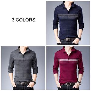 Image 4 - Coodrony 브랜드 스웨터 남성 니트웨어 당겨 옴므 턴 다운 칼라 풀오버 셔츠 남자 가을 겨울 따뜻한 면화 스웨터 91040