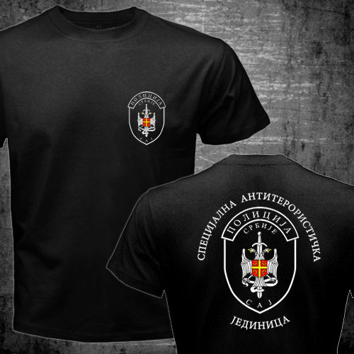 Serbia Special Forces Police Anti Terroris Unit Army CAJ Falcons Cobra men two sides military Casual tee drop shipping