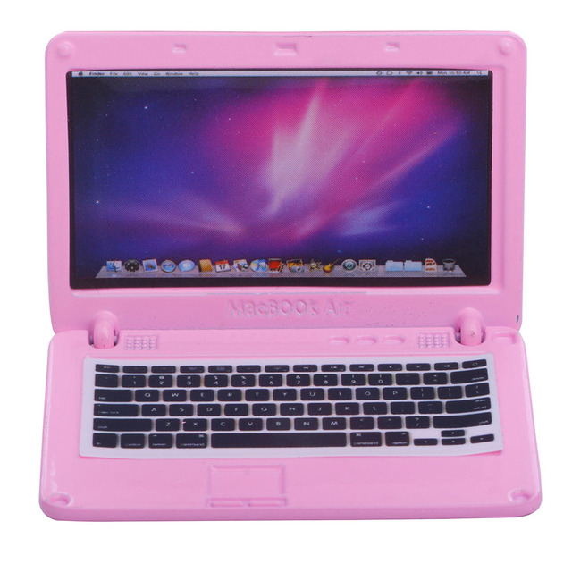 Pink Laptop for American Girl Dolls 18 Inch Doll Laptop for American Girl Dolls -in Dolls from