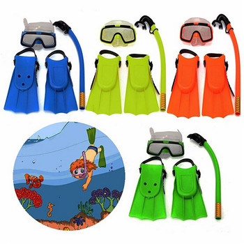 Triclicks Kids Snorkel Mask Fin Scuba Swimming Diving Snorkelling Water Sports Set цена 2017