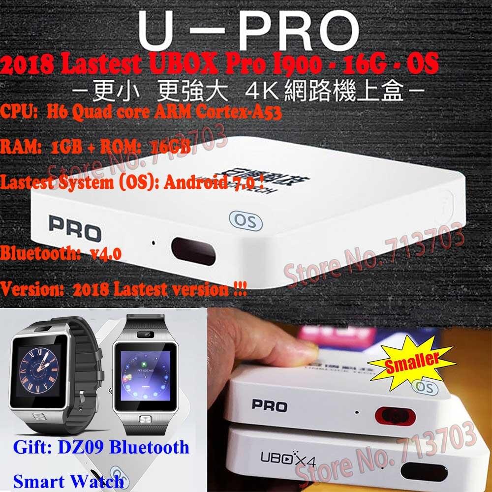 DÉBLOQUER UBOX 5 PRO I900 16g IPTV Android 7.0 Smart TV Box & Coréen Japonais HK Taiwan Malaisie Livraison chaînes de TÉLÉVISION en direct + Clavier