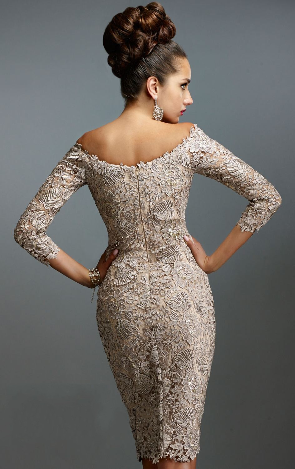 Champagne cocktail dress long