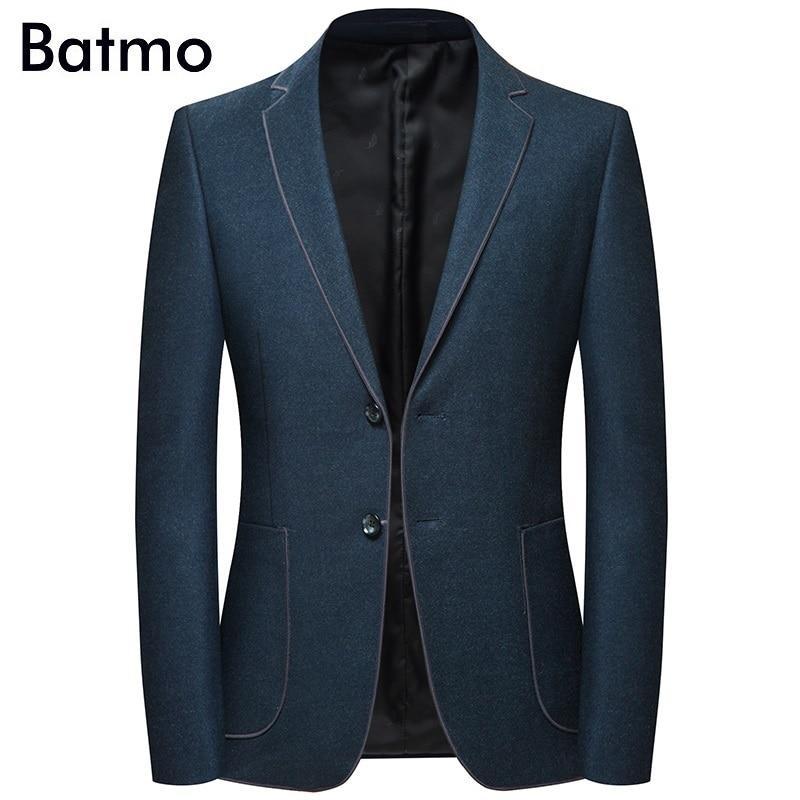 Batmo 2019 ใหม่มาถึงฤดูใบไม้ร่วงคุณภาพสูง casual blazer, ชุดบุรุษแจ็คเก็ต, casual แจ็คเก็ตผู้ชาย plus   ขนาด M 4XL 8126-ใน เสื้อเบลเซอร์ จาก เสื้อผ้าผู้ชาย บน   1