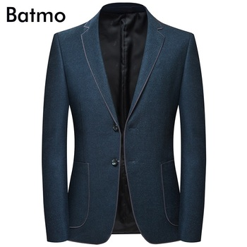 Batmo 2019 new arrival autumn high quality casual blazer men,men's suits jackets ,casual jackets men plus-size  M-4XL 8126