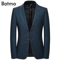 Batmo 2019 nueva llegada otoño alta calidad casual blazer hombres, trajes de hombre chaquetas, chaquetas casuales hombres más tamaño M-4XL 8126