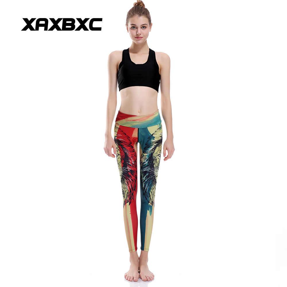 582e27d669260 ... XAXBXC 0084 HI-Q Stitch Sexy Girl Pencil Pants Lion Rainbow Jamaica  Head Prints Slim ...