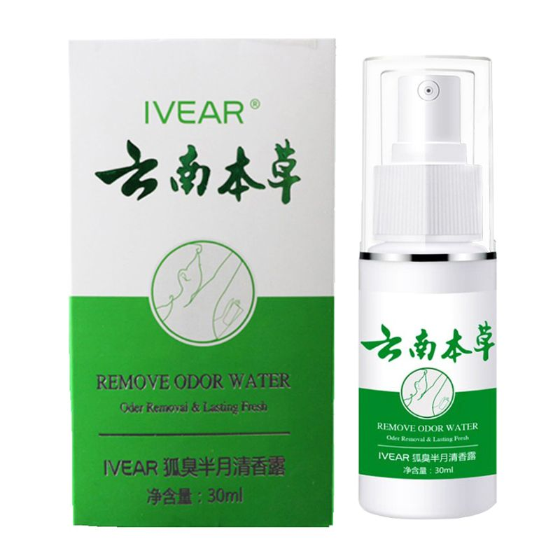 30ml Odor Remover Spray Armpit Underarm Smell Removal Refresh Body Deodorant Lotion Liquid Summer Sweat Women Men Supplies
