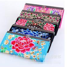 2020 new Women's Retro Ethnic Embroider Purse Wallet Clutch
