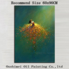 Top Artist Handmade High Quality Abstract Dancer Oil Painting On Canvas Like Butterfly Dancing