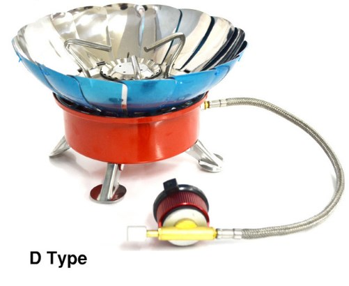 Windproof Stove Cooker Cookware Gas Burners for Camping Picnic Cookout BBQ With Extended Pipe  3  type CL045