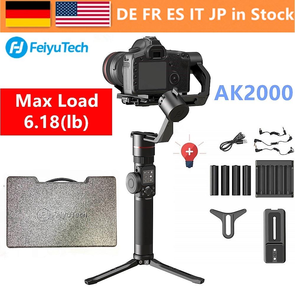 FeiyuTech Feiyu AK2000 3-Axes De Poche Caméra Stabilisateur Cardan pour Sony Canon 5D 6D Marque Panasonic GH5 Nikon D850 2.8 kg Payloa