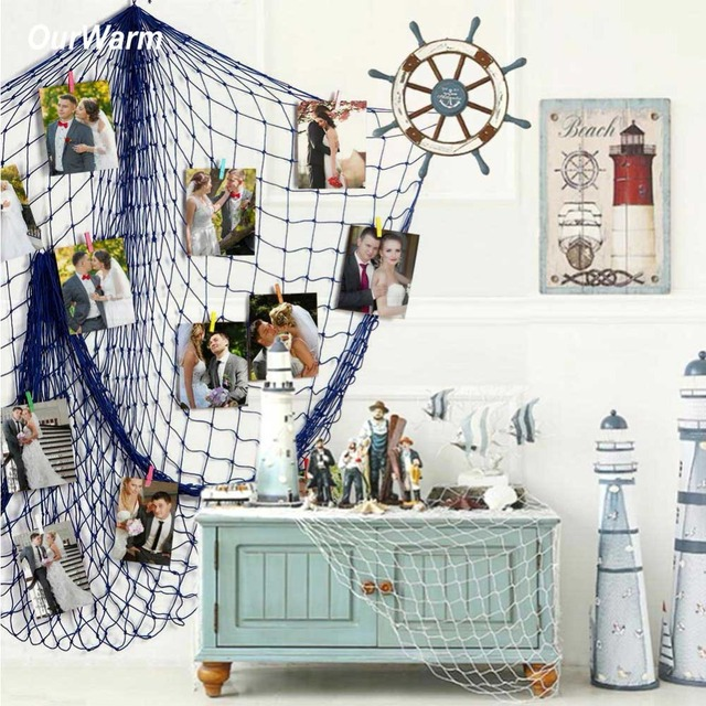 Aliexpress Buy Ourwarm Beach Theme Wedding Backdrop Nautical