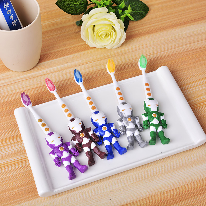 2Pcs Hot Sales Children Cartoon Rabbit Bear Toothbrush Oral Hygiene Electric Massage Teeth Care Kids Toothbrush Cleanser