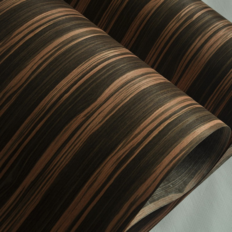 Ebony Engineered Veneer With Fleece Backer