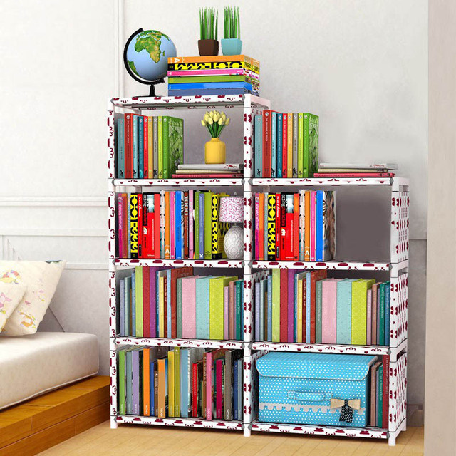 Space Saving Closet Storage Rack DIY Home Books Storage Rack Kids Wardrobe  Students Standing Bookshelf