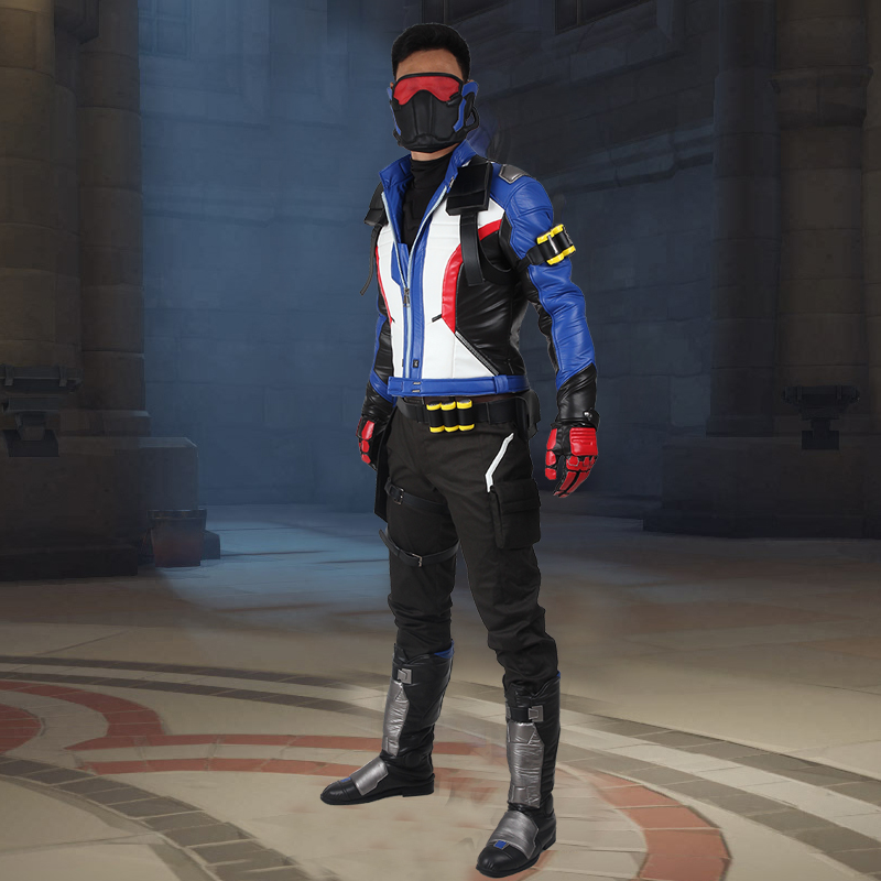 New Arrival soldier 76 full set Jack Morrison Cosplay Costume Game Adult Halloween Cosplay Costume