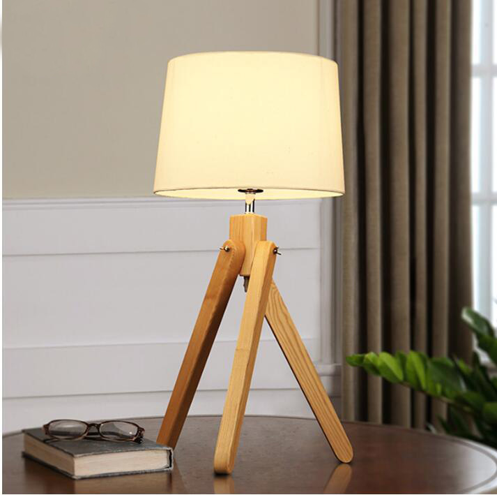 Eu Us Plug Japanese-style Table Lamp Simplified Modern Wooden Led Desk Lamp Reading Light Office Lamp Home Lighting Decor Stores Led Lamps