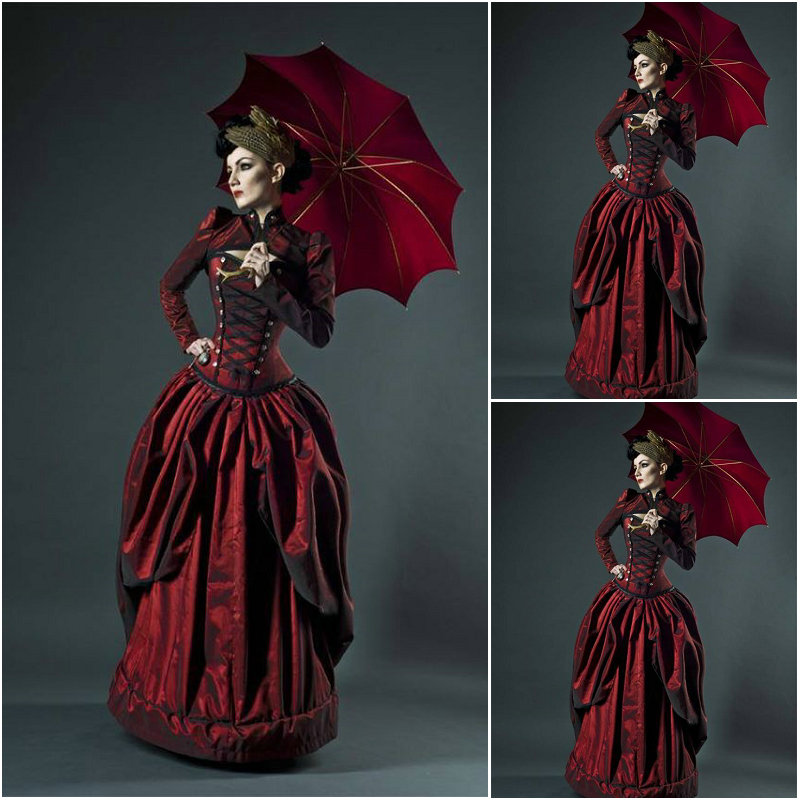History!Customer-made Vintage Costumes Victorian Dress Renaissance Dress Steampunk Dress Gothic Cosplay Halloween Dresses C-997