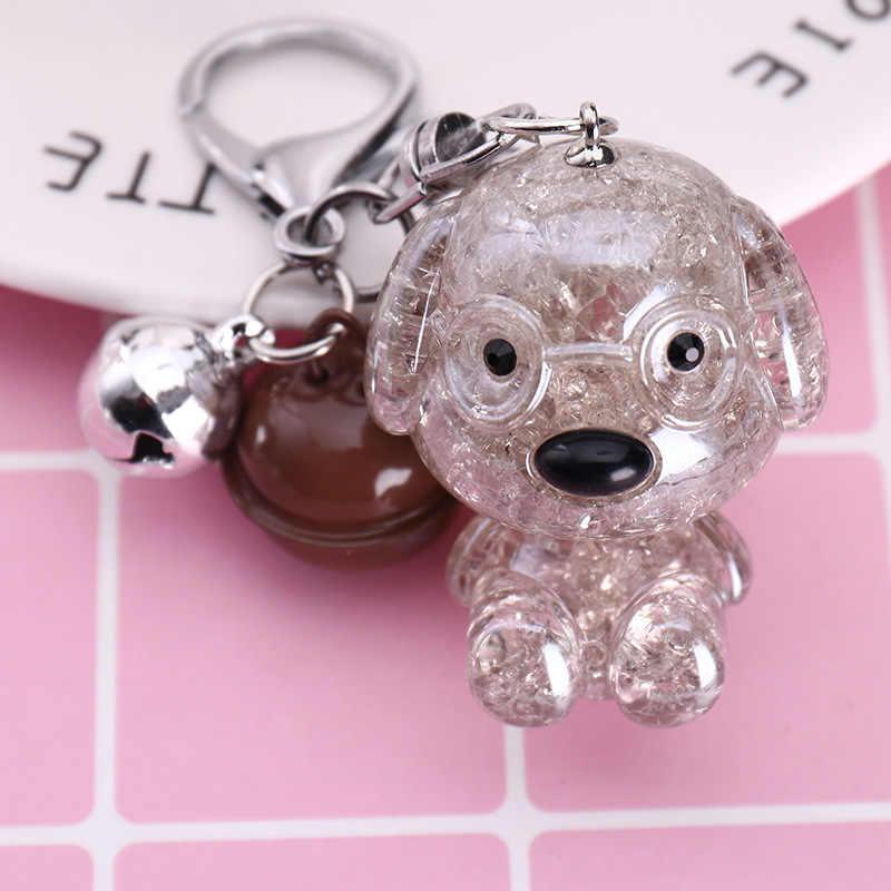 2019 ใหม่ Bulldog พวงกุญแจ Pu หนังสัตว์สุนัขพวงกุญแจกระเป๋า Charm Trinket Chaveiros Bulldog กระเป๋า Punk สไตล์