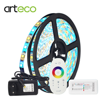 5M led 5050 led strip RGBWW IP20/IP65 Waterproof led ribbon + RF LED controller+220V to 12V 3A power supply EU/US plug 1set