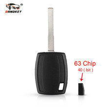 DANDKEY Remote Transponder Key case Shell For Ford Fiesta Mondeo Focus C-Max S-Max Galaxy Kuga HU101 4D63 Chip 40 bit 80 bit