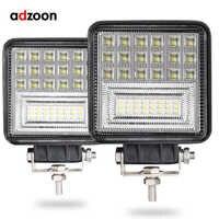 ADZOON 126 w DRL LED lumière de travail 10 30 V 4WD 12 v pour hors route camion Bus bateau brouillard lumière voiture lumière assemblée