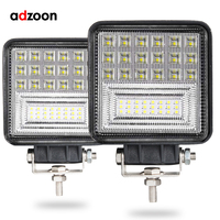 ADZOON 126w DRL LED Work Light 10 30V 4WD 12v for Off Road Truck Bus Boat Fog Light Car Light Assembly