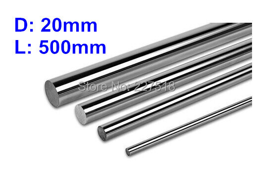 2pcs 3D printer linear shaft 20mm L500mm chrome plated linear motion guide rail round rod shaft for cnc cleansing brush cleansing brush beauty equipment temperature adjustable sonic brightening cleansing instrument skin care tool