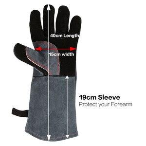Image 2 - OZERO Welding Glove Work Welders Cowskin Leather Barbecue Gloves Working Garden Protective Cut Resistant Long Sleeve Glove 2415