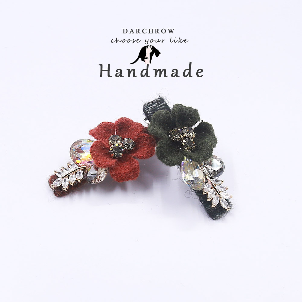 Flower Rhinestone Crystal Hair Clip for Girl and Women Barrettes Handmade Girls Bow Clip Hair Pin Girl Hairpin Hair Accessories the latest test fixture sop8 pin bios clip width 8 pin universal adapter clip body clip clip burning chip