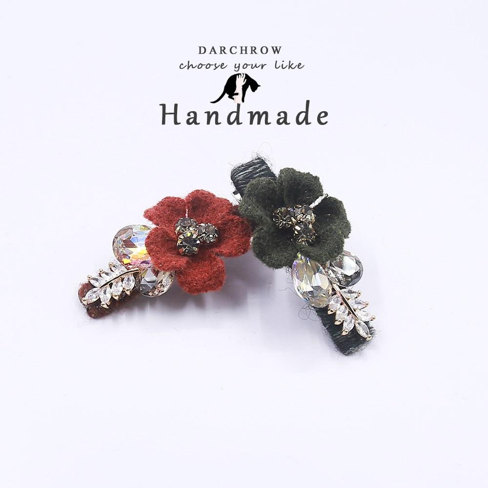 Flower Rhinestone Crystal Hair Clip for Girl and Women Barrettes Handmade Girls Bow Clip Hair Pin Girl Hairpin Hair Accessories все цены
