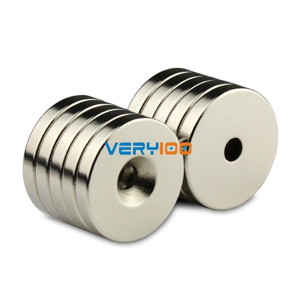 2pcs N50 Super Strong Round Neodymium Countersunk Ring Magnets <font><b>30</b></font> x <font><b>5</b></font> mm Hole: 5mm Rare Earth Wholesale Free Shipping! image