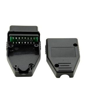 10pcs/Lot New OBD2 16Pin Male Female Connector Plug Adapter OBD OBDII EOBD J1962 OBD2 16Pin Wiring Adapter 16Pin Shell Wholesale