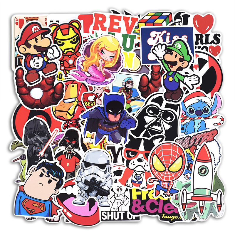 Hot Sale 100 Pcs Mixed Stickers for Luggage Laptop Decal Toys Bike Car Motorcycle Phone Snowboard Funny Doodle Cool DIY Sticker sticker doodle russian dolls