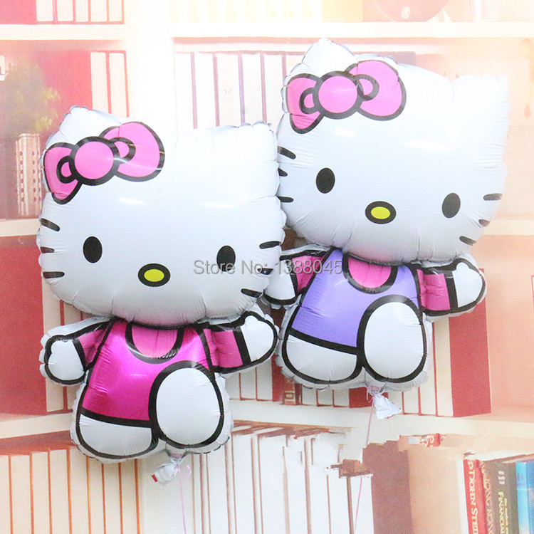 15pcs lot large kitty cat foil baloon hello kitty party for Decoration hello kitty