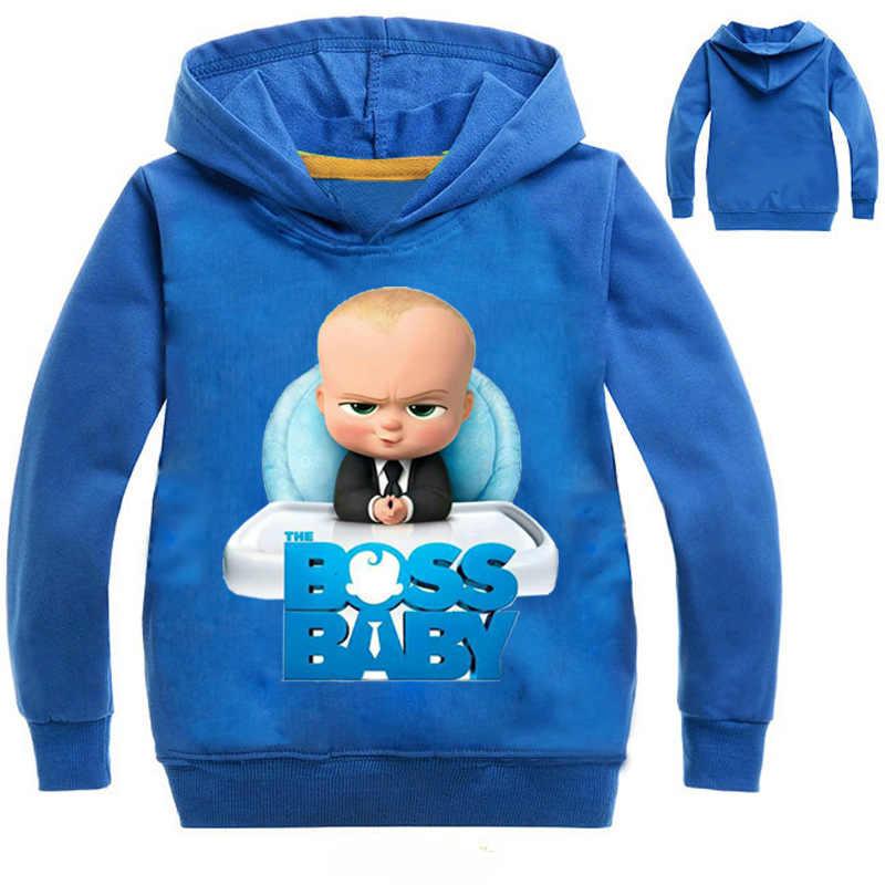 ab79577d7853 2-12Years Boss Baby Birthday Gift Kids Boys Sweatshirts Girls Hoodies  Teenagers Pullover Tops Children