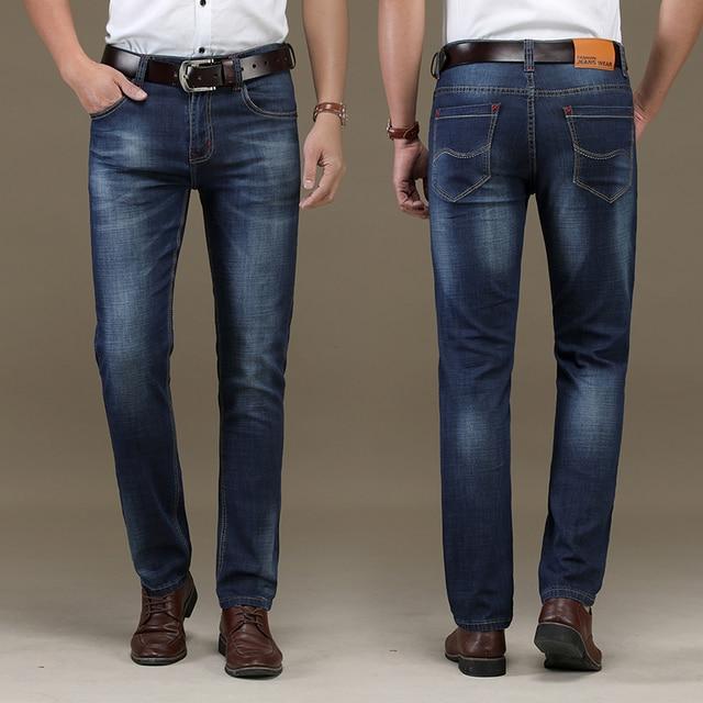 9ebd7b3fb Hombres Jeans Homme hombres clásicos Jean Calca Masculina Hombre Pantalon  Vaquero Hombre Spijkerbroek calle desgaste Pantalones