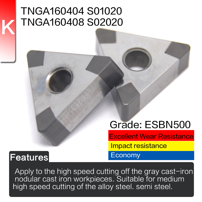 EDGEV 2 pezzi inserto in nitruro di boro nitruro di CBN TNGA160404 - Macchine utensili e accessori - Fotografia 3