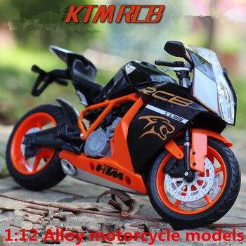 1:12 maquetas de motocicletas de aleación, alta simulación de metal fundido motocicleta juguetes, Austria KTM Road Racing, Envío Gratis