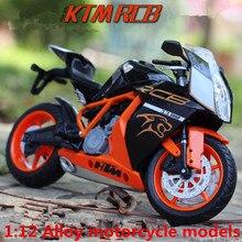 1:12 modèles de moto en alliage, jouets de moto haute simulation en métal coulé, course sur route autriche KTM, livraison gratuite