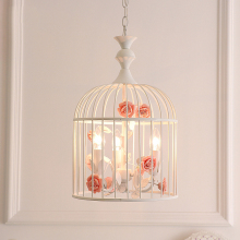 JAXLONG Nordic Style Iron Art Bird Cage Pendant Lamp Living Room Bedroom Innovation Lights Loft LED Lighting Fixture
