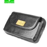 LoveCase sacchetti del telefono Copertura di cuoio Reale Pieno Vita Clip da Cintura caso di Vibrazione del raccoglitore per iphone X 5 s 6 6 s plus 7 8 più sotto 5.7 pollice